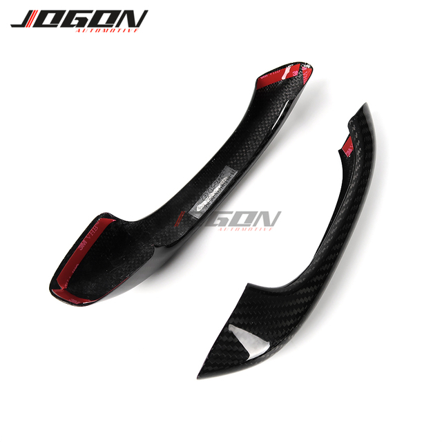 Real Carbon Fiber Exterior Door Handle Cover Sticker Trim For Porsche Macan S GTS Turbo 2015-2019 Without Smart Key Holes LHD 6