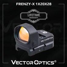 Óptica vectorial de frenesí-X 1x20x28 punto rojo alcance revólver Collimater vista 3MOA IPX6 ajuste GLOCK 17 19 9mm AR15 M4 AK escopeta