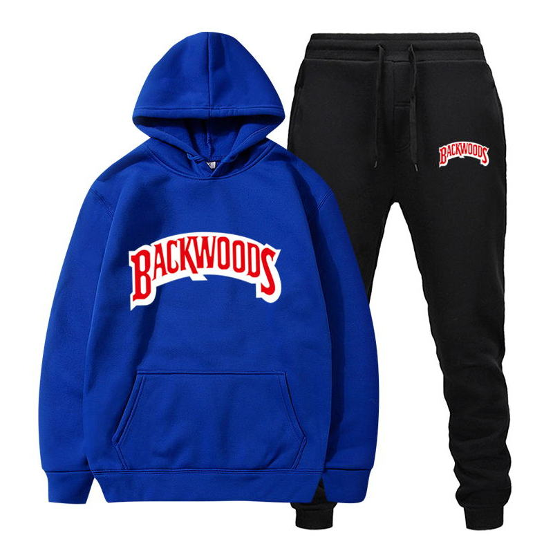 fashion brand Backwoods Men's Set Fleece Hoodie Pant Thick Warm Tracksuit Sportswear Hooded Track Suits Male Sweatsuit Tracksuit 5