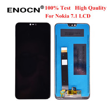 """For Nokia  7.1 LCD Display Screen Touch Digitizer Assembly for Nokia7.1 LCD Display 5.84"""" Replacement Spare Repair Parts"""