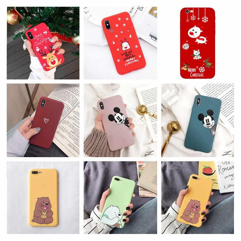 Noel iphone için kılıf 6 S kadınlar kız aksesuarları yumuşak lüks telefon kapak carcasa iphone 7 8 6 6s artı 5 5 S X XR XS Max durumda