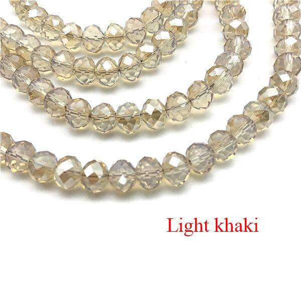 2X3/3X4/4X6/6X8 мм хрустальные бусины AB разноцветные стеклянные бусины Sapcer для ювелирных изделий ручное кольцо Ожерелье Изготовление DIY - Цвет: Light khaki