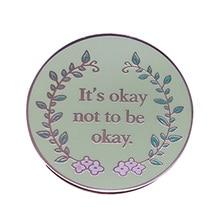 Brooch Badge Jewelry Self-Care Mental-Health-Enamel-Pin Awareness Flower-Art Gift Emotional