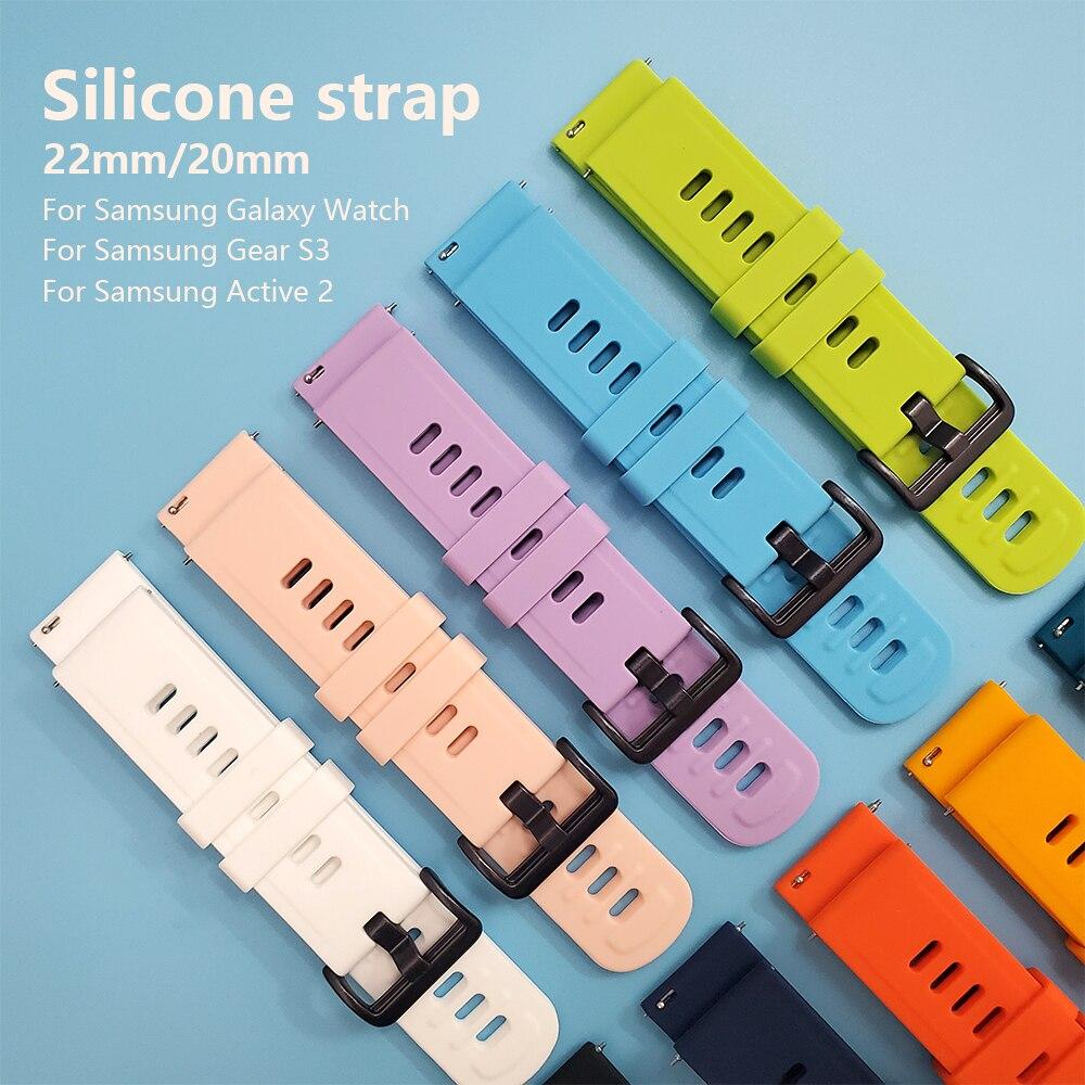 Silicone Wrist Strap For Samsung SM-R820 R830 R500 R600 R810 R800 R8050 Watch Band Active 2 44mm 40mm Gear S3 Watchband Bracelet