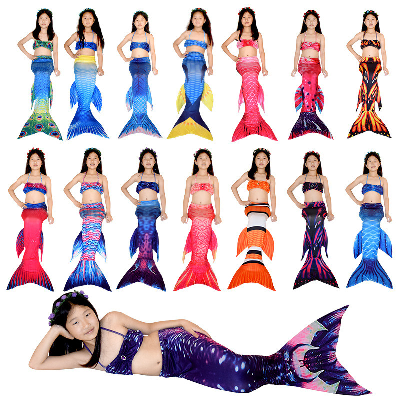 Clothing Girls' Two-piece Swimsuit BABY'S Swimsuit Mermaid KID'S Swimwear KID'S Swimwear Women's AO C COS