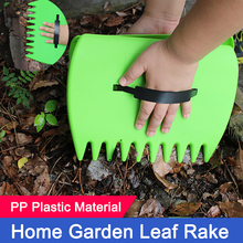 1Pair Leaves Garden Cleaning Rubbish Leaf Scoop Collect Tool Hand Rakes Trimming Grass Portable Yard Lawn Grabber Pick Up Apr16