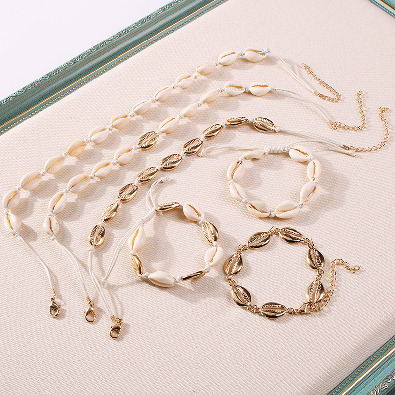Lalynnlys New Hot Shell Conch Choker Necklace Women Girls Vintage Statement Multi-layer Necklaces Summer Beach Jewelry N68671 20