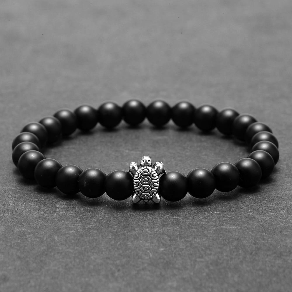 Natural Stone Beads Bracelet for Men Tortoise Accessories Gold Charm Women's Bracelets Wristband Friends Couple Bracelet Gifts