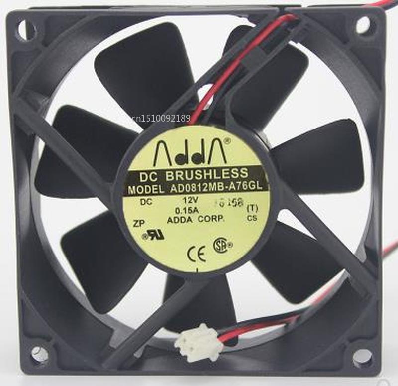 For AD0812MB-A76GL DC 12V 0.15A 3-wire 80x80x25mm Server Cooler Fan Free Shipping