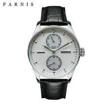 Мужские автоматические механические часы Parnis, Классические наручные часы с запасным механизмом, 43 мм, 2019