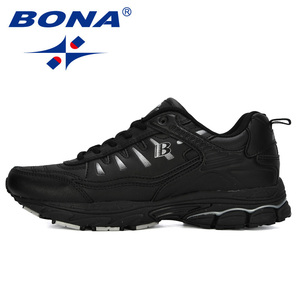 Image 5 - BONA 2019 New Designer Outdoor Men Running Shoes Cow Split Jogging Walking Sports Shoes Lace Up Athietic Sneakers Man Trendy
