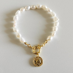 Silvology 925 Sterling Silver Natural Pearl Queen Charm bransoletki dla kobiet oświadczenie modne bransoletki 2021 luksusowa biżuteria