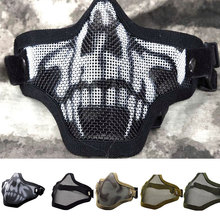 Hunting Accessories Camouflage Net Mask Airsoft Paintball Netting Mask Mesh Tactical Military Accessories Metal Steel Wire Mask