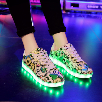 2020 Spring Summer Boys Girls Children Sports Casual Shoes Rose Colorful Luminous Shoes USB Charging Parent-child Dance Shoes 2016 spring new arrival children led light shoes boys and girls breathable shoes kids usb charging flash colorful luminous shoes