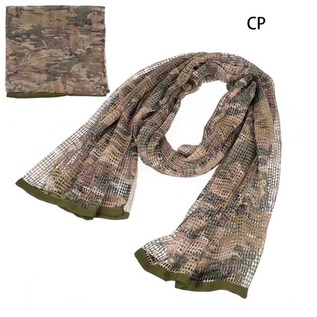 190*90cm Scarf Cotton Military Camouflage Tactical Mesh Scarf Sniper Face Scarf Veil Camping Hunting Multi Purpose Hiking Scarve 6