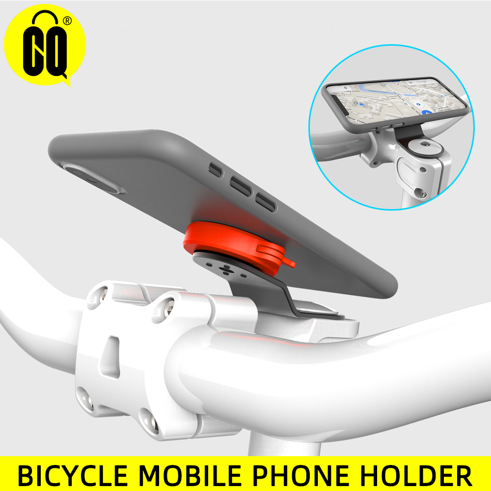 Mountain Bike Mobile Phone Aluminum Alloy Bracket, Riding Strong Adhesive Support Stand Paste Adapter Clip For IPhone
