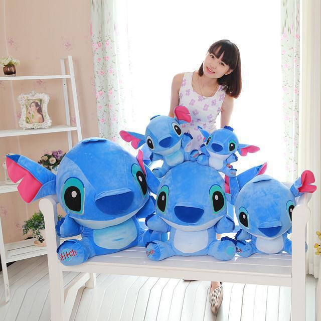 Stitch Disney 20cm-80cm Giant Cartoon Lilo And Stitch & Peluche Stitch Plush Toy Doll Children Stuffed Toy  Baby Birthday Gift