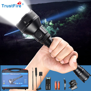 цена на Trustfire T70 Hunting LED Flashlight Powerful 1000 Meters 2300LM Tactical High Power Rechargeable torch flashlight powerful