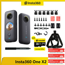 Insta360 One X2 Action Video Camera 5.7K Waterproof To 10M FlowState Stabilization Steady Cam With Snow/Motorcycle/Bike Bundle