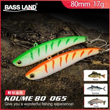 Bassland Koume 80 Bending Knife Fishing VIB Lure 80mm 17g Long Casting Hard Bait Siinking Artificial Swimbait With Japan Hook