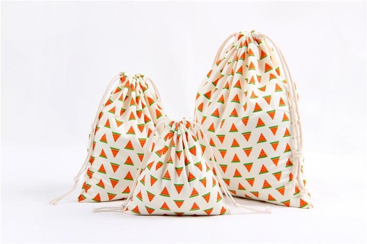Drawstring Bags Household Storage Cloth Bags Eco Reusable Folding Canvas Bags Underwear Shoe Storage Pouch 3Pcs/Set (S+M+L)