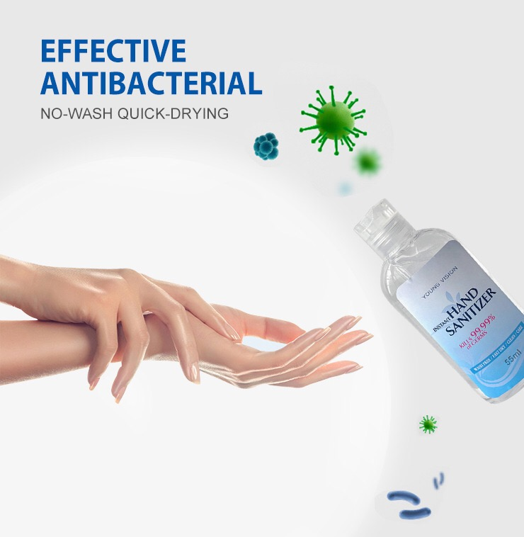 Drop Shipping 55ml Travel Portable Mini Hand Sanitizer Antibacterial Moisturizing Fruit-Scented Disposable No Clean Wholesale.
