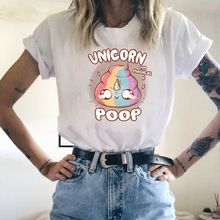 Girls Casual Regular T Shirt Unicorn Short-sleeve Tee Shirt Women Fashion Carton Short Sleeve T-shirt Summer Carton O-neck Tees