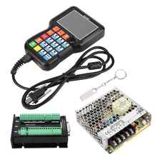 NCH02 Stepper Motor USB 5 Axis Control Card +24V Switching Power Supply Support G code CNC Controller Kits