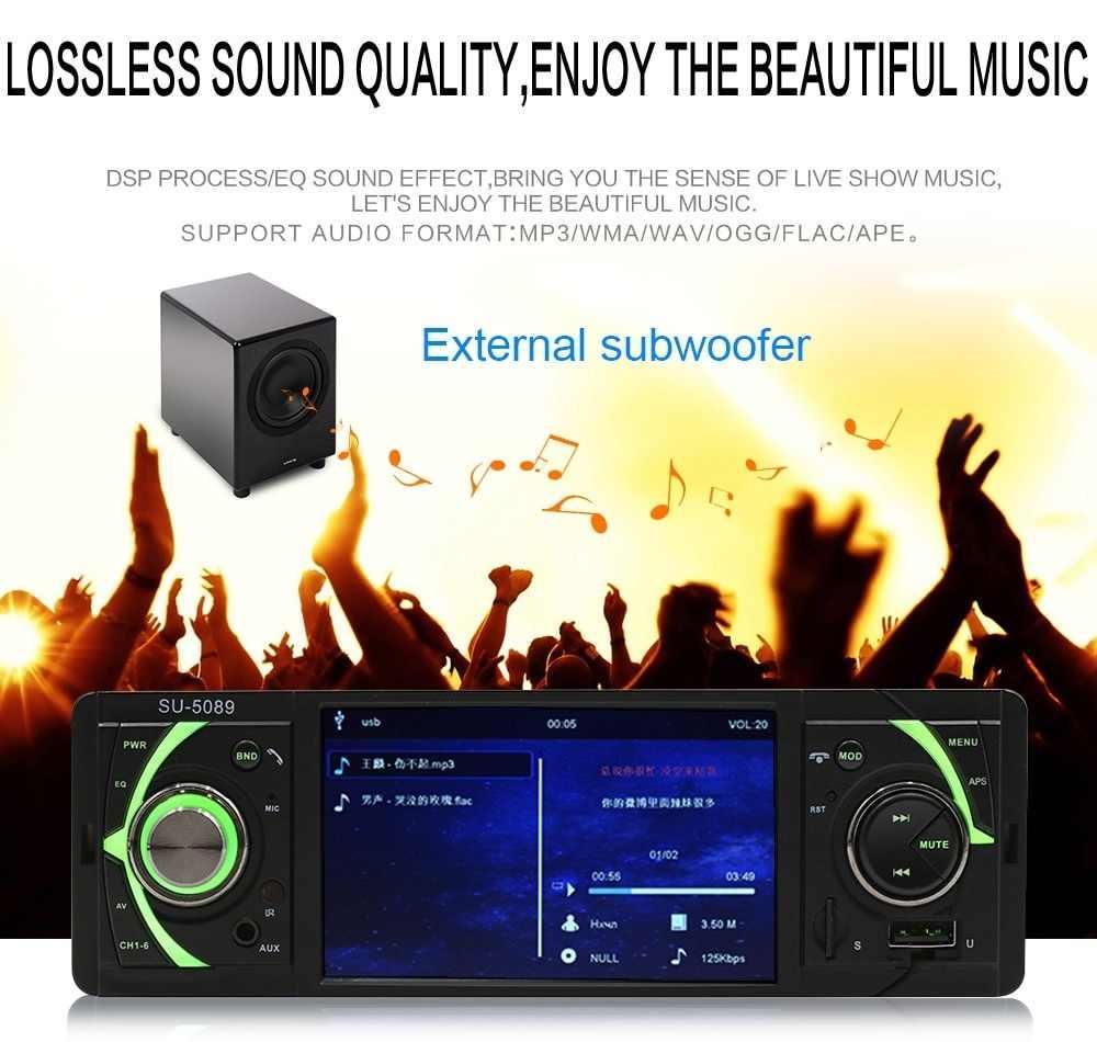 自動 MP5 車マルチメディアプレーヤー 4.1 インチ 1 Din ラジオオーディオステレオ FM Bluetooth 2.0 サポートリアビューカメラ USB TF AUX