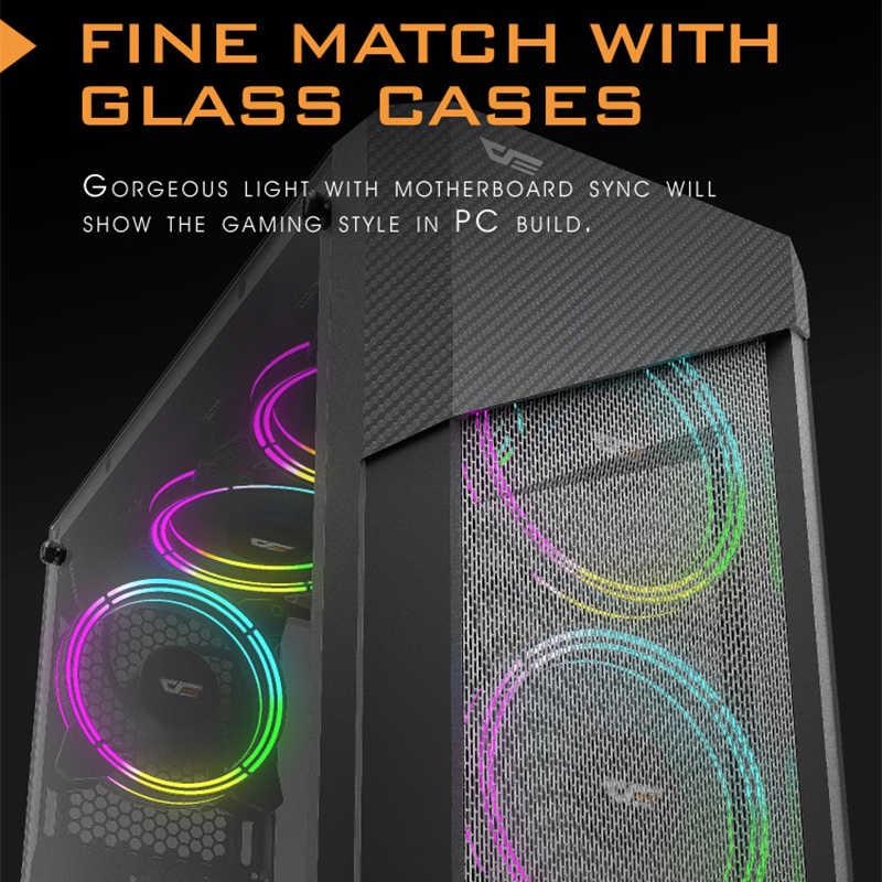DarkFlash CF11 Pro RGB Fan 120mm 3Pin AURA SYNC PC kasa fanı hız ayarı sessiz IR uzaktan bilgisayar kasası soğutucu soğutma fanı