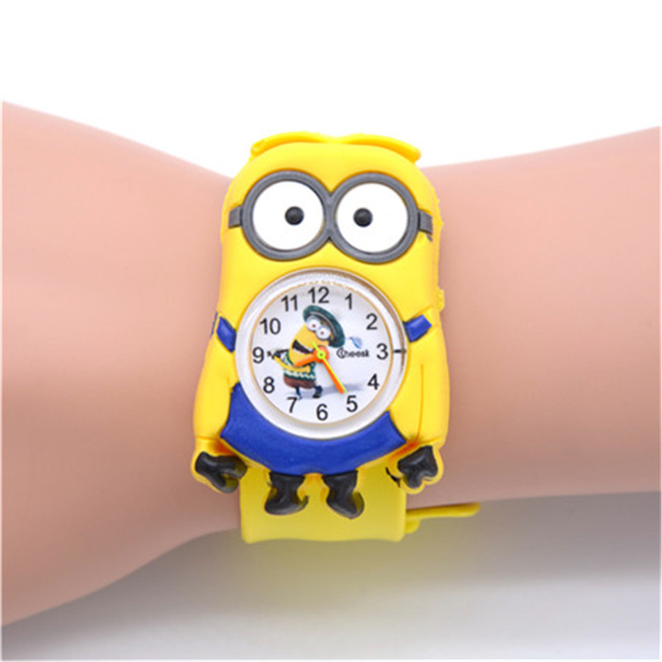 Children's 3D Cartoon Film Toy Kids Watches Children Baby Clock For Girls Boys Gifts Toy Watch For Child