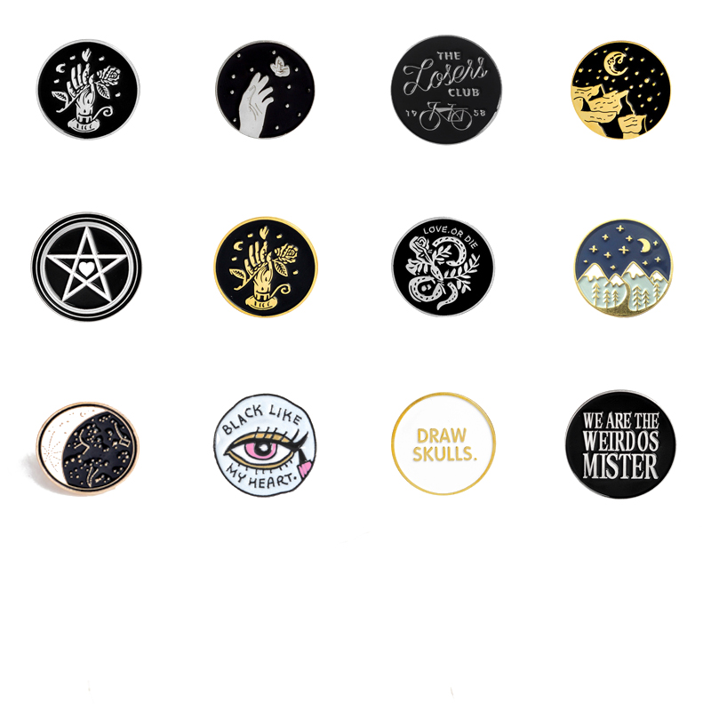 Pinback Buttons Badges Pins Double Forest Wolves Lapel Pin Brooch Clip Trendy Accessory Jacket T-Shirt Bag Hat Shoe