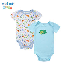 2 PCS/LOT Newbron Baby Bodysuit Cartoon Printing Lovely Boy Baby Clothing Set For 0-12 Month Infant(China)