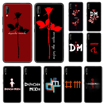 Band Depeches Phone case For Huawei Honor Mate 5 7 8 9 10 20 i A X Lite Pro black fashion cover painting shell silicone image