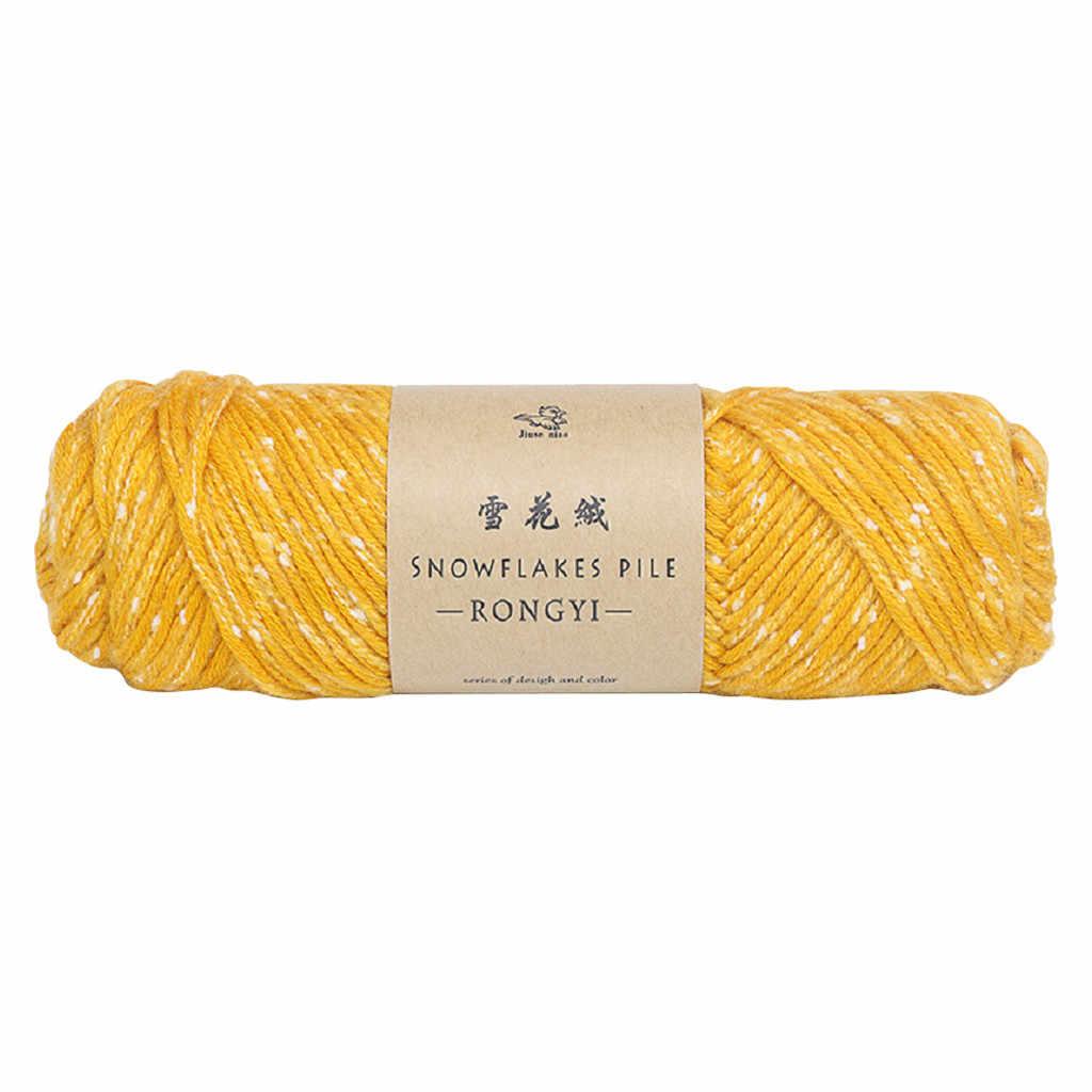 Accesorios de decoración del hogar bufanda de copo de nieve línea Diy Crochet grueso lana suéter bebé línea amante algodón soporte dropshipping
