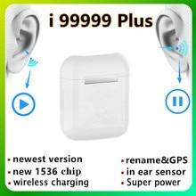 I99999 plus tws renomear bluetooth fones de ouvido sem fio i99999 mais android pk i9000 pro i90000 max fones de ouvido da orelha telefones