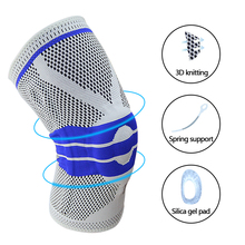 Knee Brace Knee Support Knee Compression Sleeve Support Elastic Knee Wraps Patella Stabilizer with Silicone Gel & Spring Support spring knee booster removable spring adjustable knee support pad sleeve knee support knee
