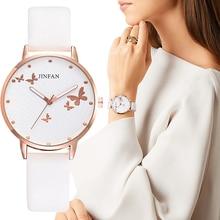 מודפס פרפר יוקרה נשים אופנה שעונים פשוט נשי שמלת שעוני יד קלאסי עיצוב גבירותיי קוורץ עור שעון