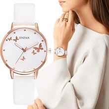 Relojes de lujo con estampado de mariposas para mujer, relojes de pulsera sencillos y femeninos con diseño clásico, reloj de cuero de cuarzo para mujer