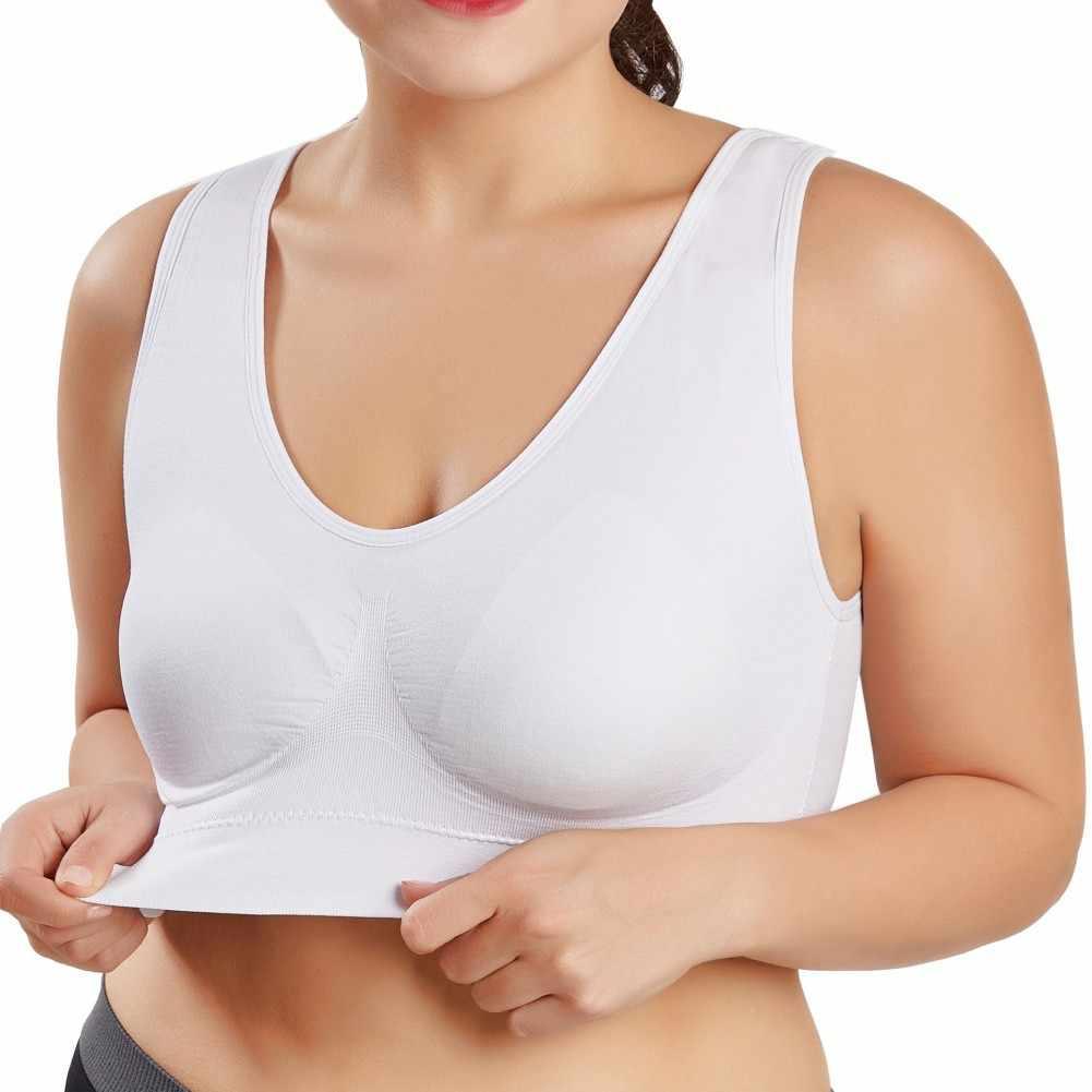 Women Seamless Bra Fitness Yogi Vest Underwear Padded Crop Tops Underwear No Wire-rim Bras Plu Size 4XL-6XL