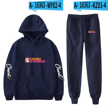 Nes Charli Damelio Merch Hoodie Womens Tracksuit Sweatpants Suit Charlie Damelio Shirt Trousers Sets Unisex Clothes Print Casual 22