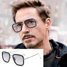 Мужские солнцезащитные очки для рыбалки с изображением Железного человека 3, Tony Stark Matsuda, мужские солнцезащитные очки для рыбалки, Ретро стиль, квадратные солнцезащитные очки для рыбалки