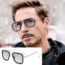 Mężczyzna Iron Man 3 okulary przeciwsłoneczne okulary wędkarskie Tony Stark Matsuda okulary przeciwsłoneczne okulary wędkarskie męskie okulary retro w stylu vintage kwadratowe okulary przeciwsłoneczne okulary wędkarskie tanie tanio Unisex Square Eyewear Fishing Sunglasses