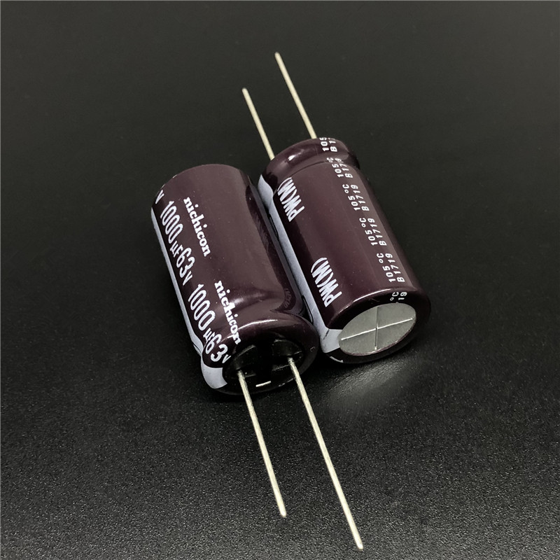 5pcs/50pcs 1000uF 63V NICHICON PW Series 16x30mm Low Impedance 63V1000uF Aluminum Electrolytic Capacitor