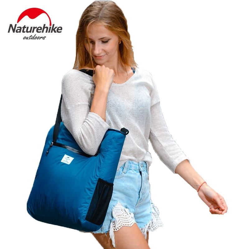Naturehike Foldable Lightweight Silicon Tote Bag 30D Nylon Waterproof Shoulder Bag Sports Messenger Crossbody Bag 18L