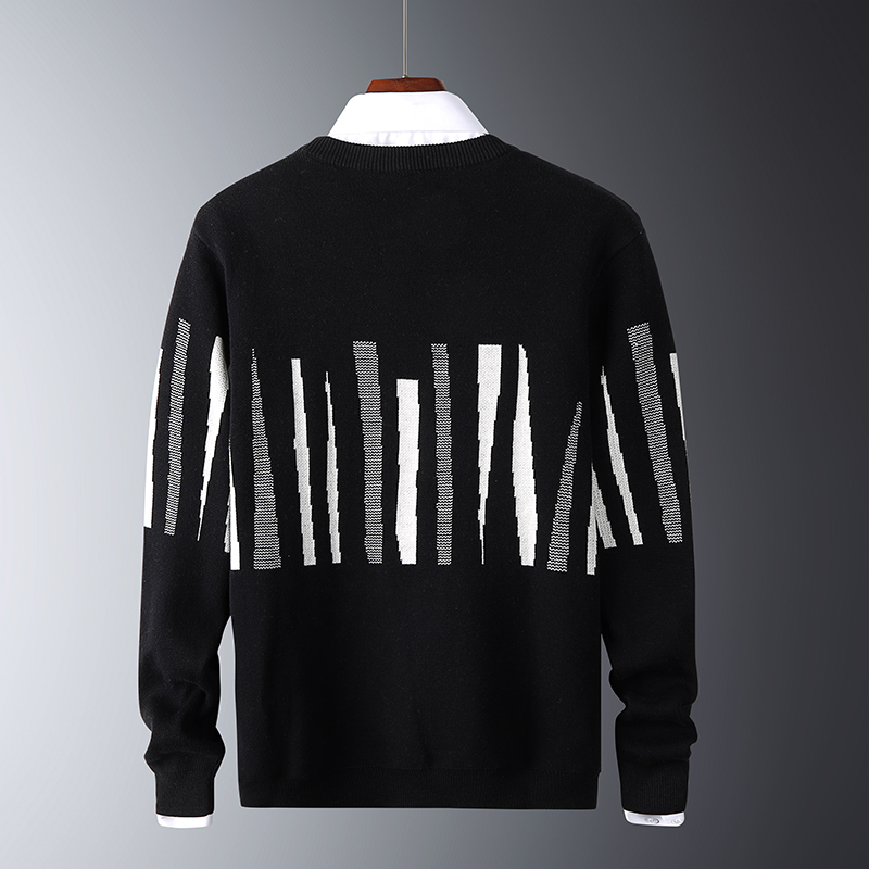 Striped Sweaters Pullover Men Fashion Long Sleeve Knitted Sweater Winter Christmas Pull Homme Warm Coat Mens Clothing Streetwear