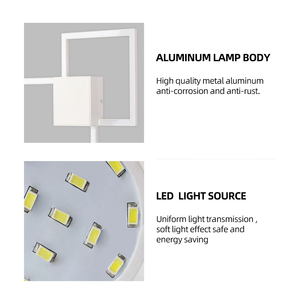 Image 5 - Zerouno Decorative modern LED Wall Lamp DIY background light indoor for home interior TV Wall Lights lounge living Room bedroom