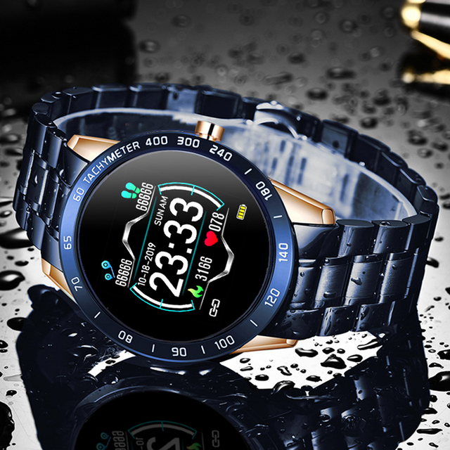 Smartwatch for Men Steel Band Heart Rate Blood Pressure Monitor Sport Multi-function Mode 2