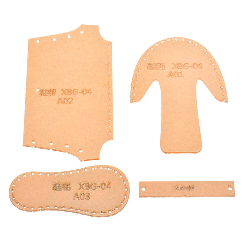 Clear Acrylic Pattern Stencil Template Leather Craft DIY For Shoes Pendant Bag