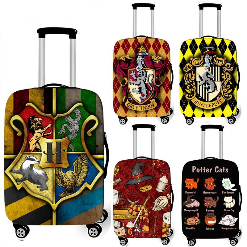 Hogwarts Gryffindor Slytherin luggage cover Travel Accessories elastic trolley case suitcase cover for 18-32 inch Luggage set